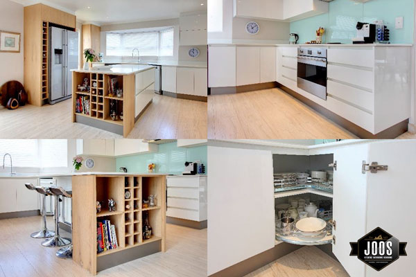 Joos Kitchens - Compact and clean modern kitchen in white high gloss
