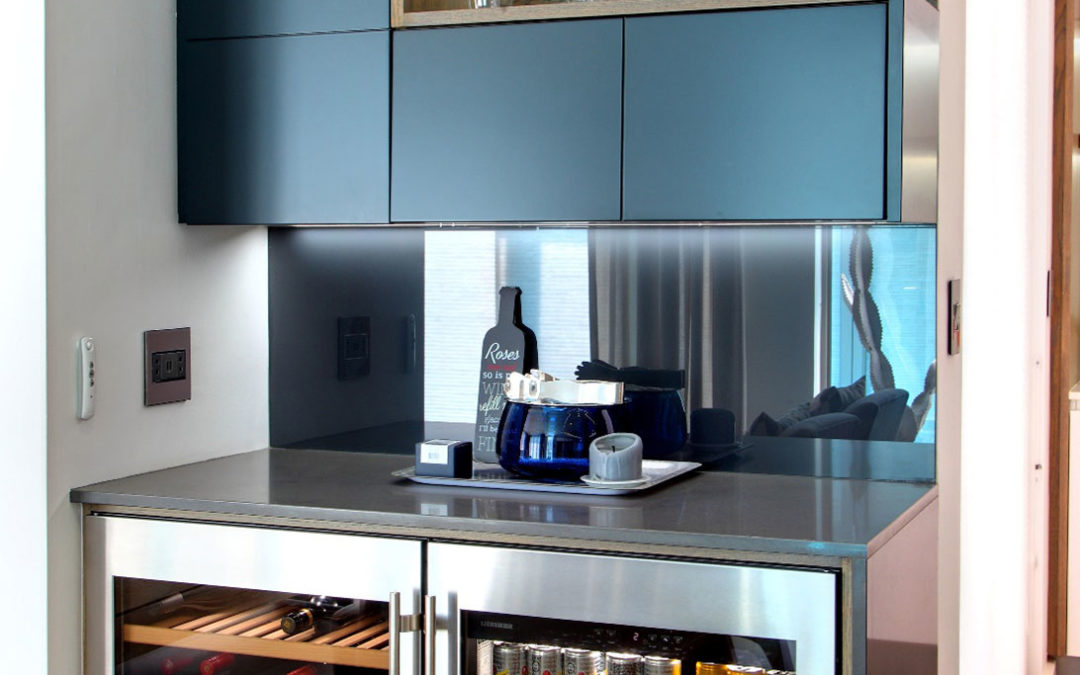 Incorporate an eye-catching drinks cabinet into your kitchen or living space